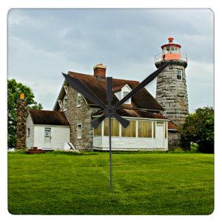 Windmühlen-Punkt-Leuchtturm, Vermont-Wanduhr Quadratische Wanduhr