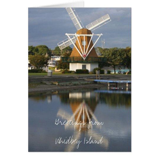 Windmühlenreflexions-Anmerkungskarte WM2014 Mitteilungskarte