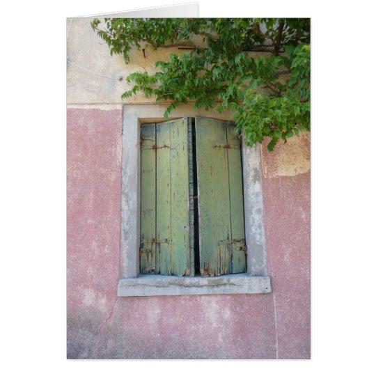 Windows von Venedig #1 Grußkarte