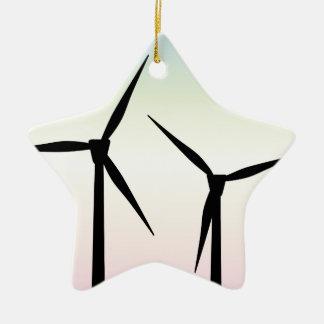 Windpark-Morgen Keramik Stern-Ornament