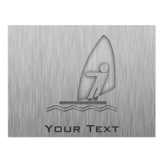 Windsurfing; Metall-Blick Postkarte