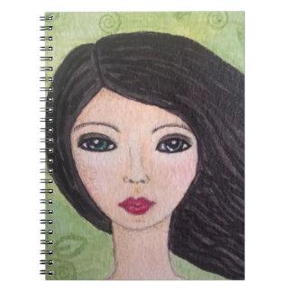 Windswept Mädchennotizbuch Notizblock