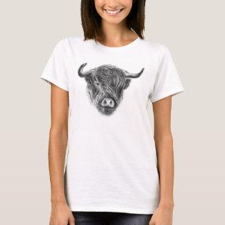 Windswept und Straggly schottische Hochland-Kuh T-Shirt
