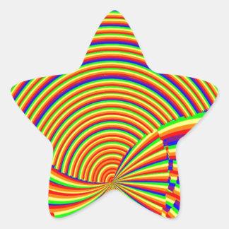 Windt sich n-Regenbogen-Spektrum: Elegante Stern-Aufkleber