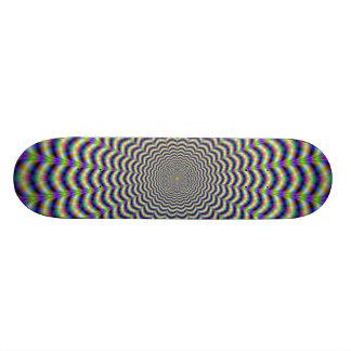 Windungs-Schnitt kreist Skateboard ein