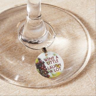 Wine wenig, Lachen viel Glasmarker