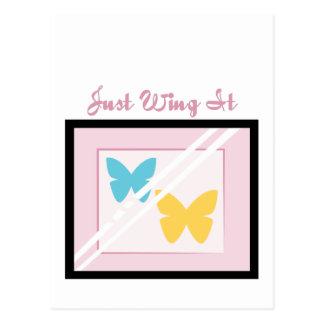 Wing es einfach postkarte