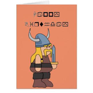Wingding Viking alles Gute zum Geburtstag Karte