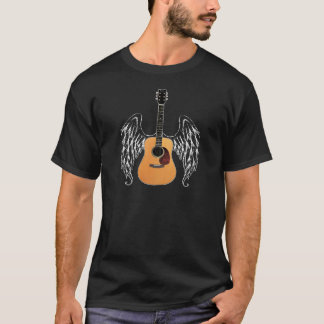Winged Akustikgitarre T-Shirt