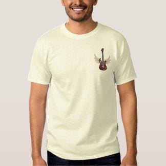 Winged Gitarre Besticktes T-Shirt