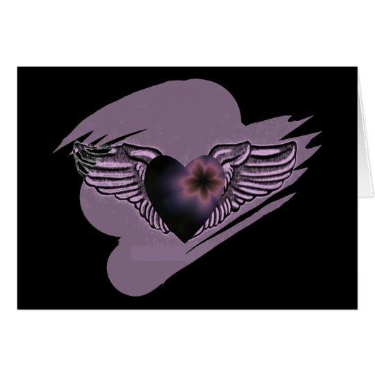 Winged Herz-Schwestern Notecard Mitteilungskarte