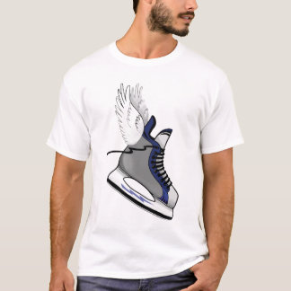 Winged Hockey-Skatet-stück T-Shirt