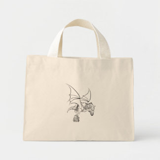 Winged Raubvogel/Stammes- Mini Stoffbeutel