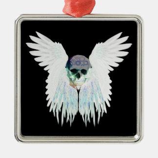 Winged Schädel-gotischer Entwurf perfekt für Silbernes Ornament