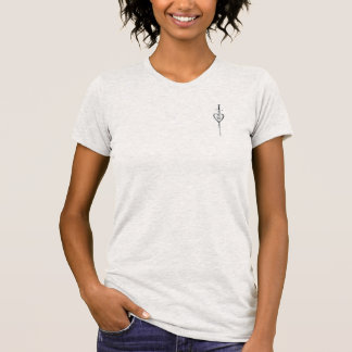 Winged Stahlherz-Schwarzes Tatoo T - Shirt