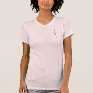 Winged StahlT - Shirt herz-Burgunders Tatoo