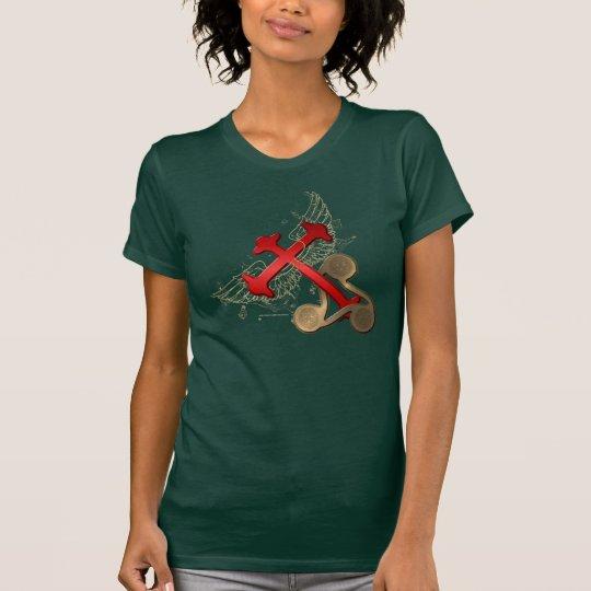 Winged T - Shirt der Kelte-Kreuz-Damen-Jersey