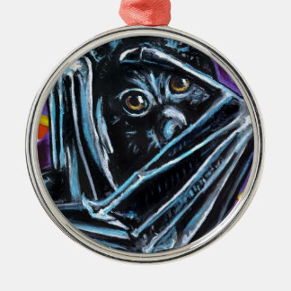 Winging es rundes silberfarbenes ornament