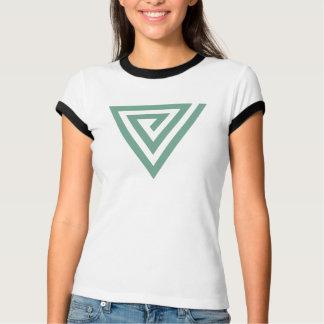 Winklige gewundene Damen T-Shirt