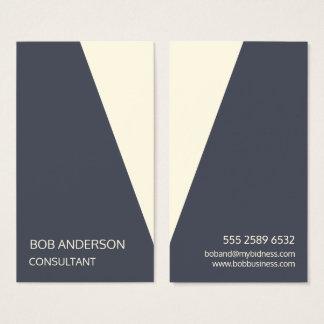 Winkliger Berater-modisches Tux-Indigo-Elfenbein Visitenkarte