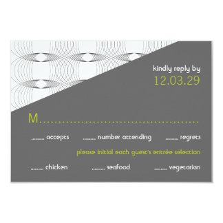 Winkliges Mod schellt Retro moderne Hochzeit UAWG Karte