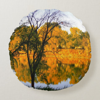Winnipeg-Herbst Rundes Kissen