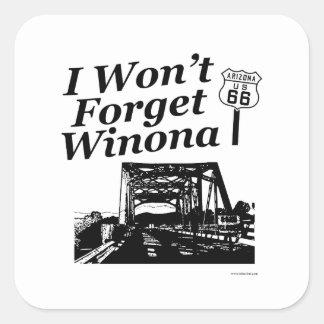 Winona auf 66 quadratischer aufkleber