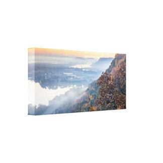 "Winona Herbst-Sonnenaufgang 17x8 1,5"" Leinwanddruck"