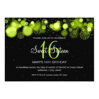 Winter-16. Geburtstag-Geburtstags-Party Limon 12,7 X 17,8 Cm Einladungskarte
