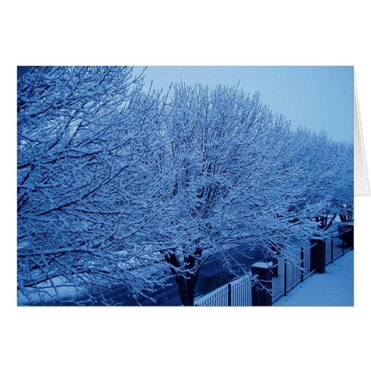 Winter 3 von 7 grußkarte