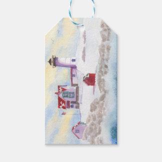 Winter am Klumpen-Leuchtturm im Geschenkanhänger