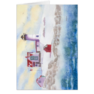Winter am Klumpen-Leuchtturm in Maine Karte