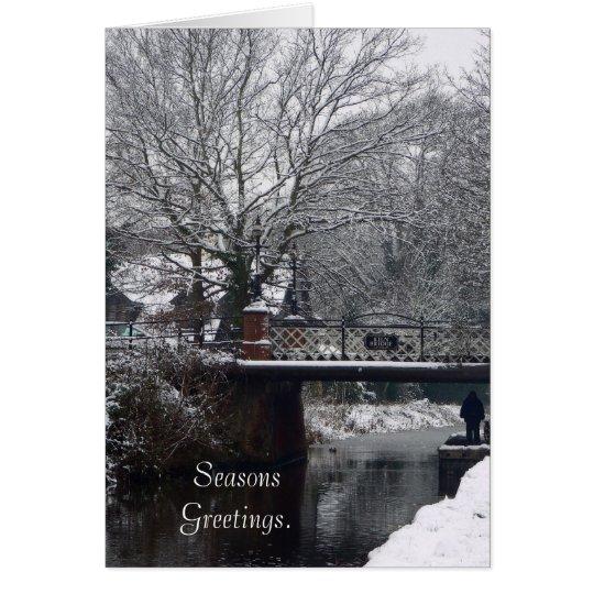 Winter an der Brennofen-Brücken-Karte Grußkarte
