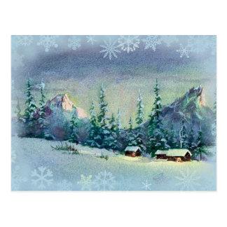 WINTER-BAUERNHOF durch SHARON SHARPE Postkarte