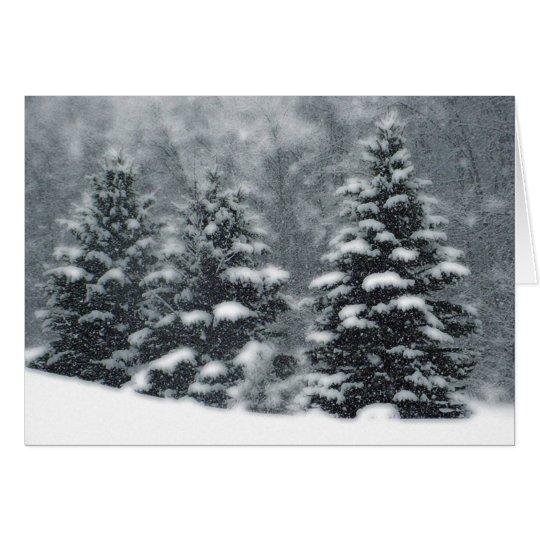 Winter-Bäume Karte