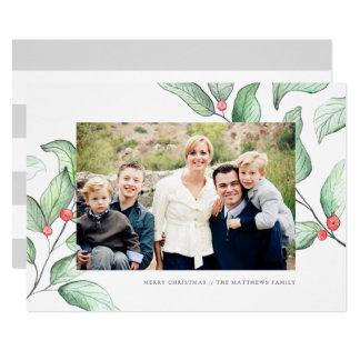 Winter-Beeren-Feiertags-Foto-Karte 12,7 X 17,8 Cm Einladungskarte