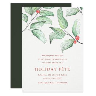 Winter-Beeren-Feiertags-Party Einladungen