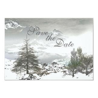 Winter-Berg Save the Date, der Mitteilung Wedding 8,9 X 12,7 Cm Einladungskarte