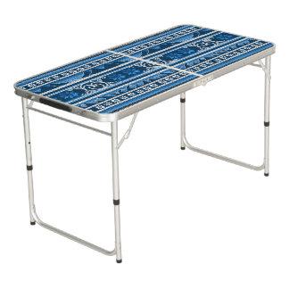 Winter-blauer nordischer Entwurf Beer Pong Tisch