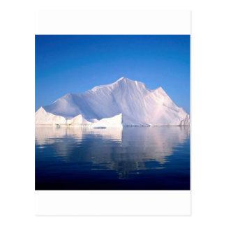 Winter durch die Eisberge Postkarte
