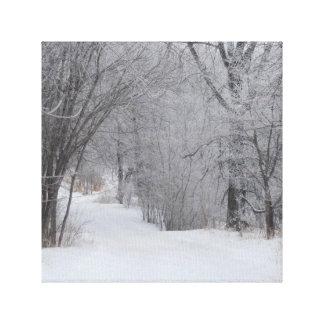 Winter-Einsamkeit Leinwanddruck