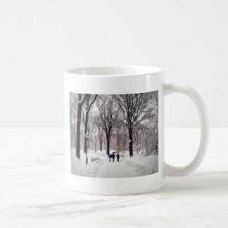 Winter-Familien-Reise zum Central Park Kaffeetasse