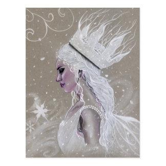 Winter-feenhafte Königin-Postkarte Postkarte