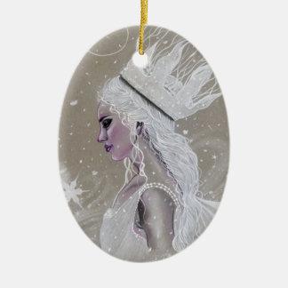 Winter feenhafte Queenchristmas Baum Verzierung Keramik Ornament