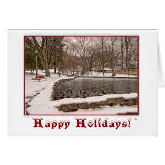 Winter-frohe Feiertage Weihnachtsgruß-Karte Grußkarte