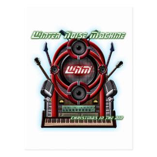 Winter-Geräusch-Maschine Postkarte