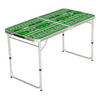 Winter-grüner nordischer Entwurf Beer Pong Tisch