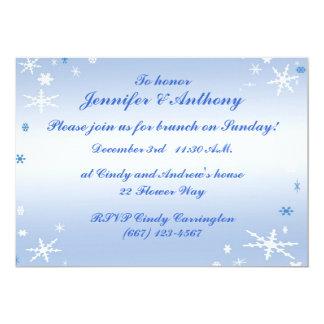 Winter-Hochzeits-Brunch 12,7 X 17,8 Cm Einladungskarte
