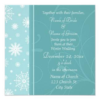 Winter-Hochzeits-Foto-Einladungs-Karten Quadratische 13,3 Cm Einladungskarte