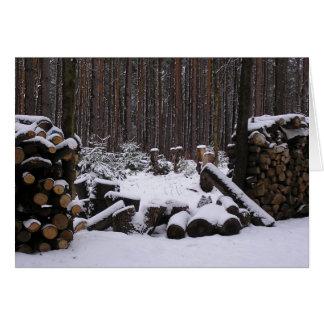 Winter-Holzkarte Karte
